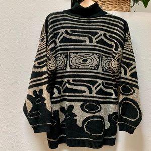 Turtle Neck Sparkle Thread Sweater